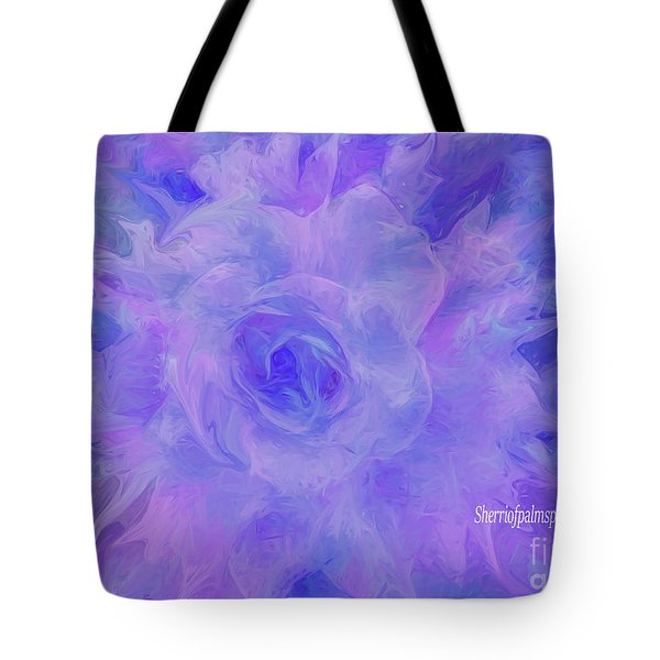 Purple Passion By Sherriofpalmspringsflower Art-digital Painting  Photography Enhancements Tradition Tote Bag
