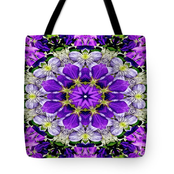 Purple Passion Floral Design Tote Bag