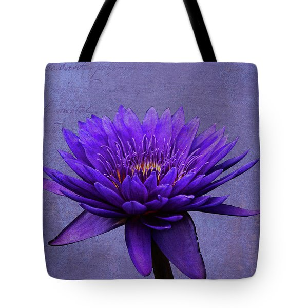 Tote Bag featuring the photograph Purple Passion by Judy Vincent
