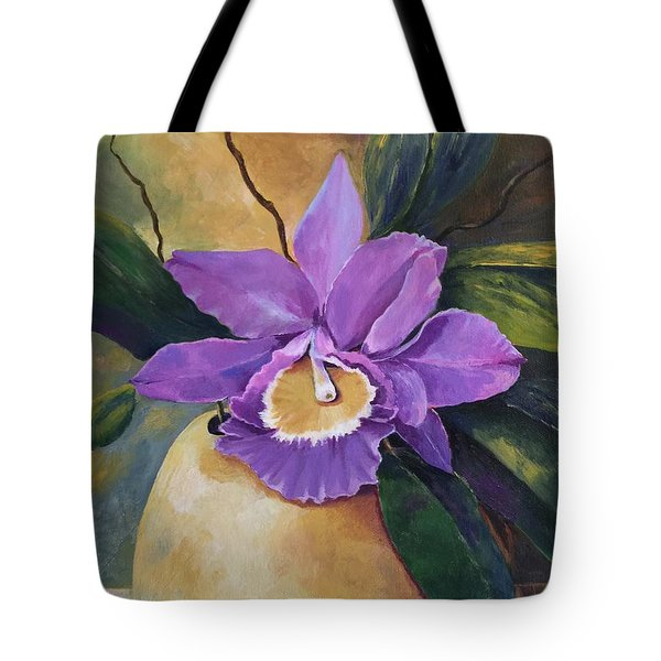 Purple Passion Orchid Tote Bag
