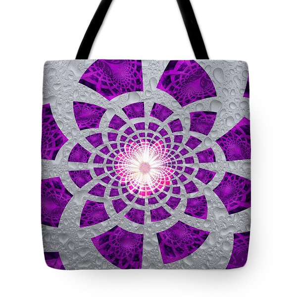 Purple Patched Tote Bag