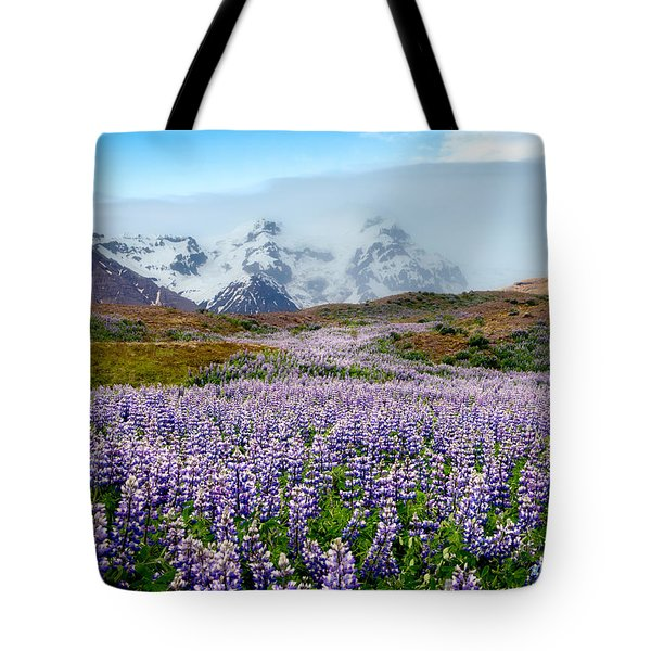 Purple Pathway Tote Bag by William Beuther