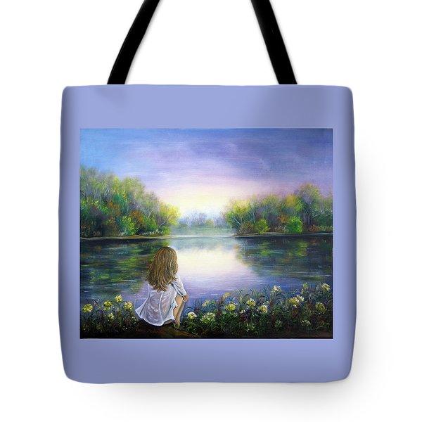 Purple Peace Tote Bag by Vesna Martinjak