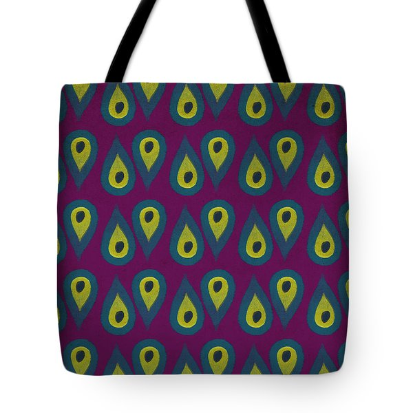 Purple Peackock Print  Tote Bag
