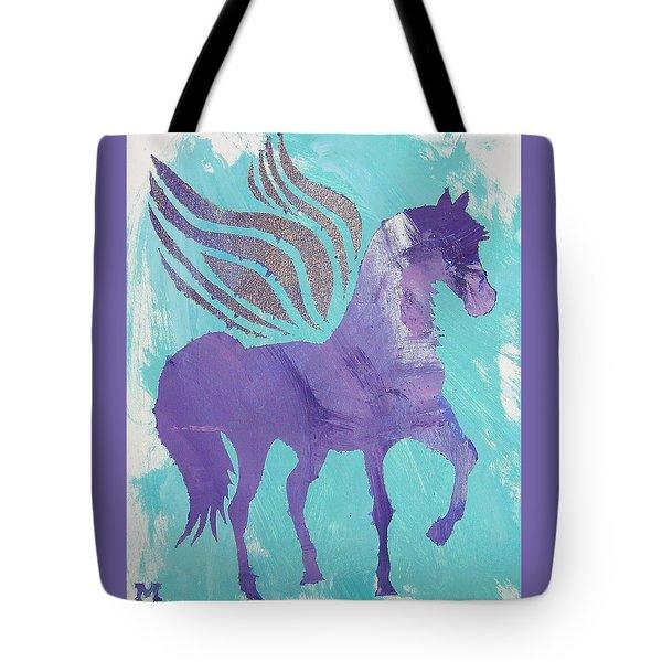 Purple Pegasus Tote Bag