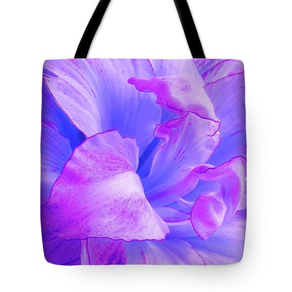 Purple Petals Abstract Tote Bag by Gill Billington