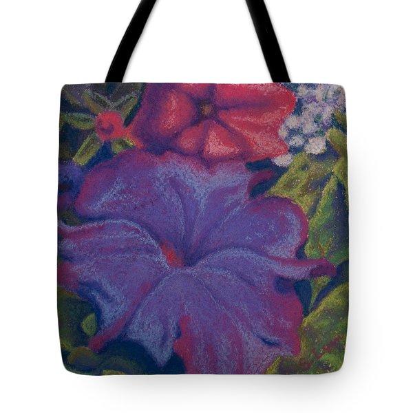 Purple Petunia Tote Bag