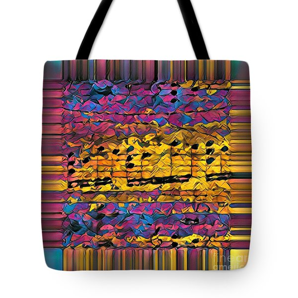 Purple Phrase Squared Tote Bag by Lon Chaffin