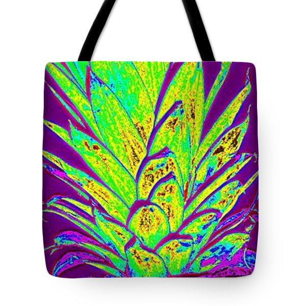Purple Pineapple Tote Bag by Jeanne Forsythe