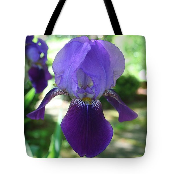 Tote Bag featuring the digital art Purple Pleaser by Barbara S Nickerson