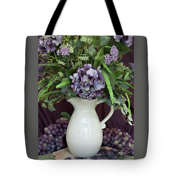 Tote Bag featuring the photograph Purple Pleasures by Sherry Hallemeier
