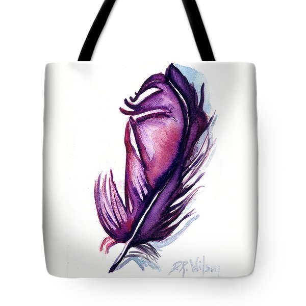 Purple Plume Tote Bag