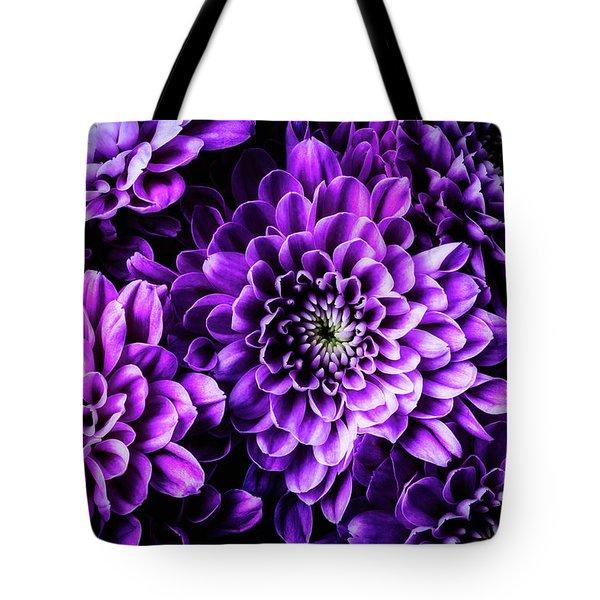 Purple Pompon  Tote Bag