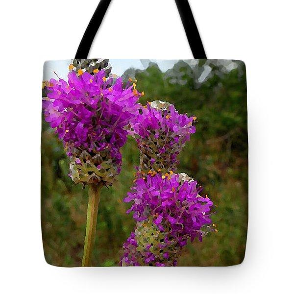 Purple Prairie Clover Tote Bag