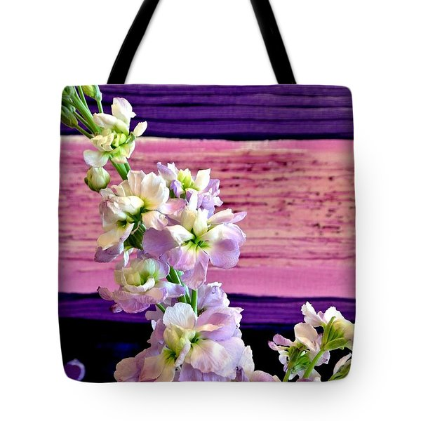 Tote Bag featuring the photograph Purple Purple Everywhere by Marsha Heiken