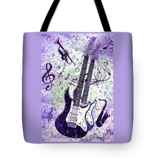 Purple Rain By Kaye Menner Tote Bag