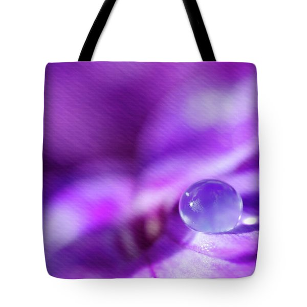 Purple Rain Drop Tote Bag