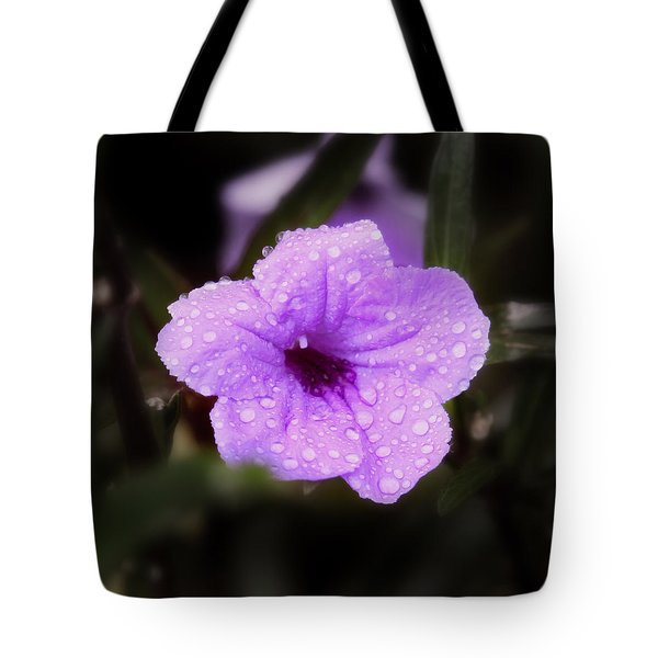 Purple Rain Tote Bag by Joseph G Holland