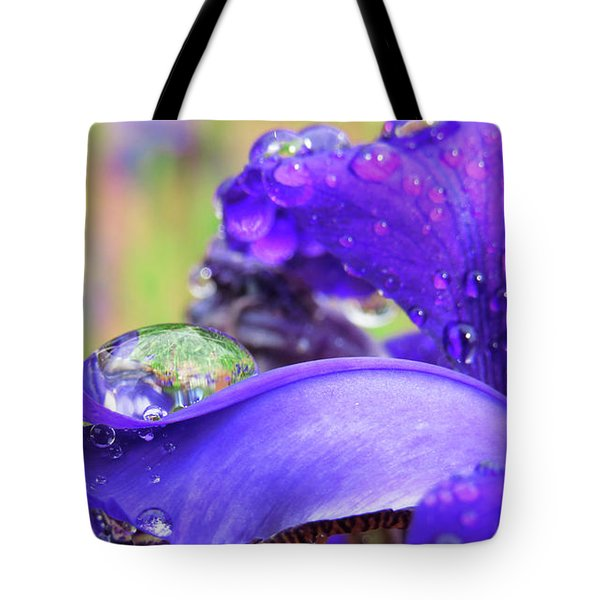 Tote Bag featuring the digital art Purple Rain by Kathleen Illes