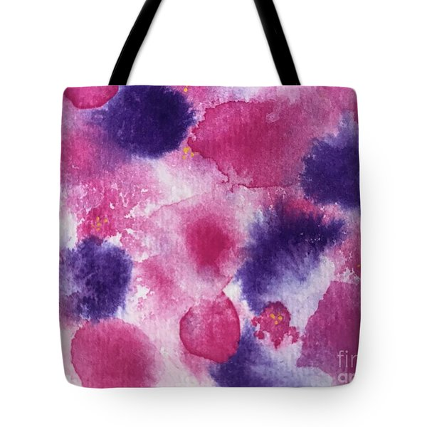 Tote Bag featuring the painting Purple Rain by Kim Nelson