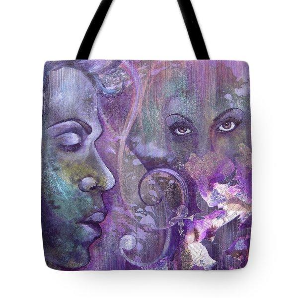 Purple Rain Tote Bag by Shadia Derbyshire