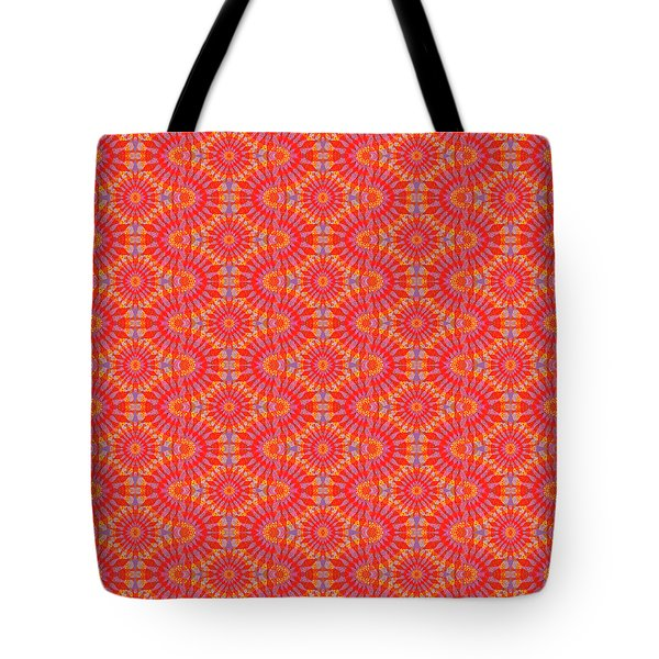 Tote Bag featuring the painting Purple Red Maze by Kym Nicolas
