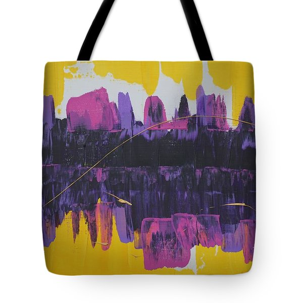 Purple Reflections Tote Bag