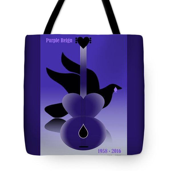 Purple Reign 1958-2016 Tote Bag