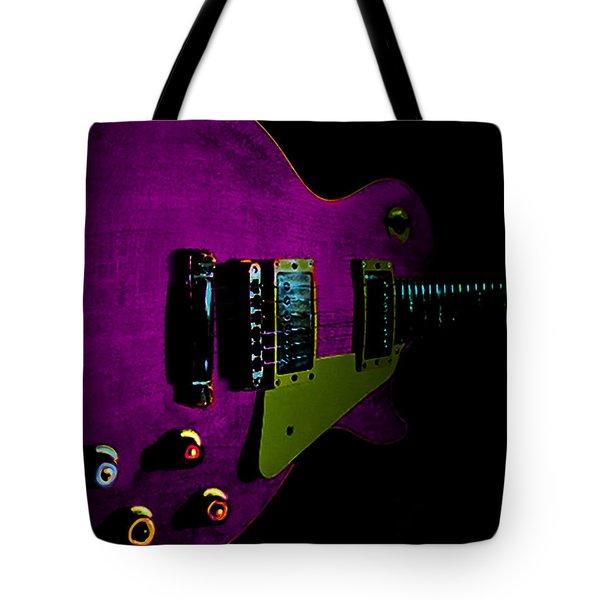 Purple Relic Les Paul II Hover Series Tote Bag