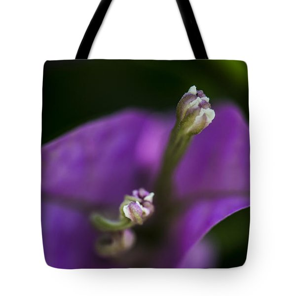 Tote Bag featuring the photograph Purple Rest Flower by Paula Porterfield-Izzo