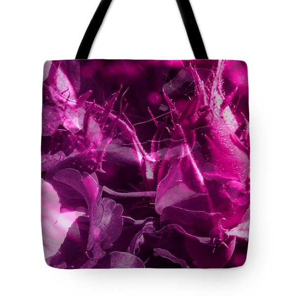 Purple Rose And Pansy Tote Bag by Ruth Palmer