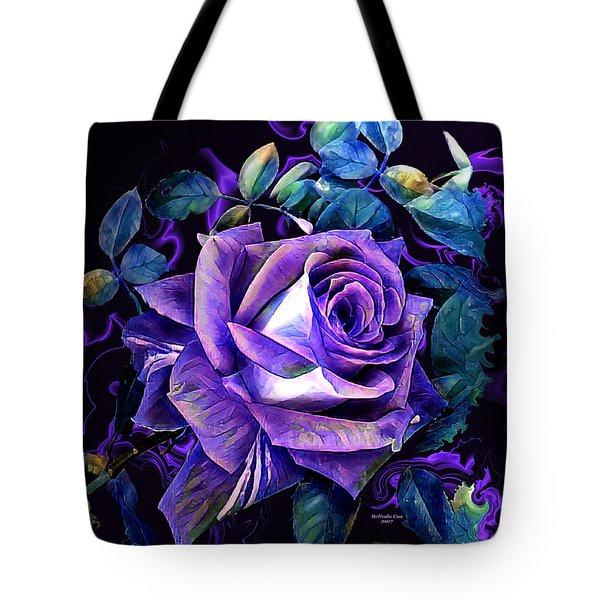 Purple Rose Bud Painting Tote Bag