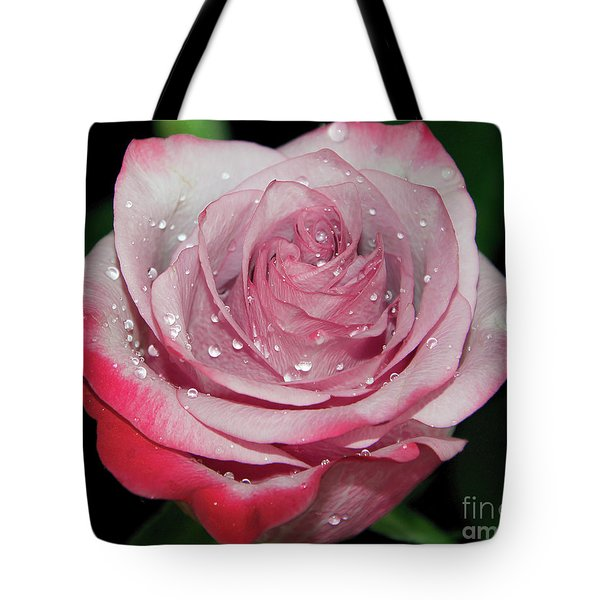 Tote Bag featuring the photograph Purple Rose by Elvira Ladocki