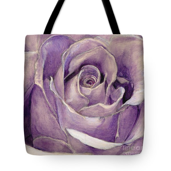 Purple Rose Tote Bag by Enzie Shahmiri