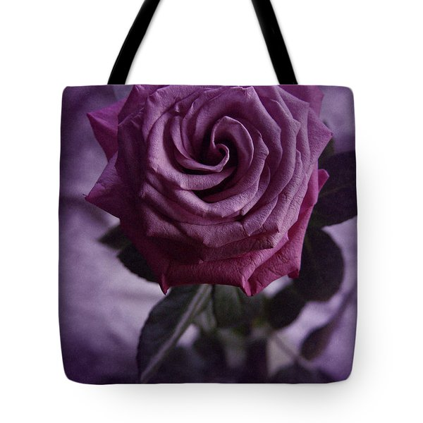 Tote Bag featuring the photograph Purple Rose Of December by Richard Cummings