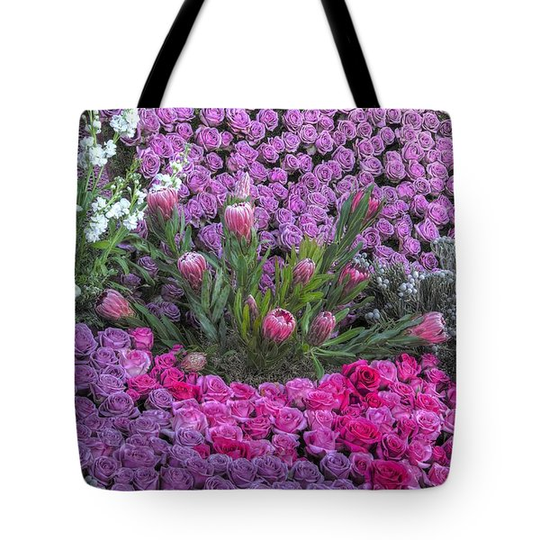 Purple Roses, Pinks And White Tote Bag