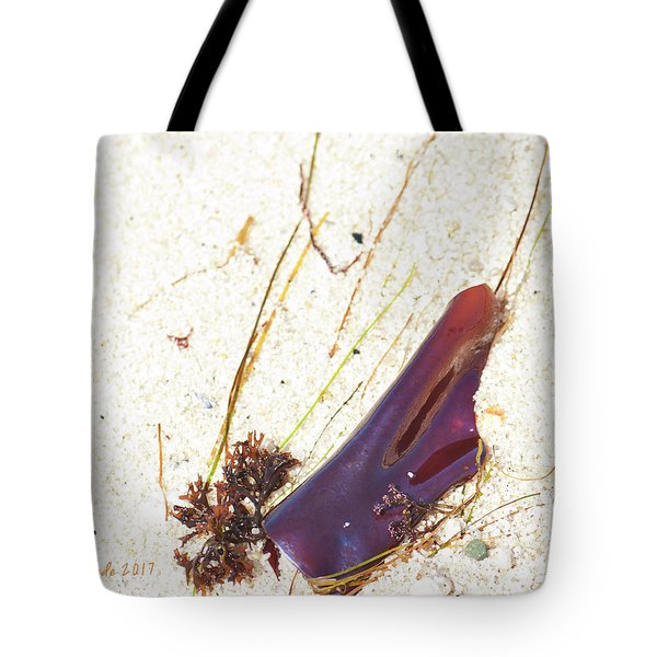 Purple Seaweed In Pacific Grove California Tote Bag