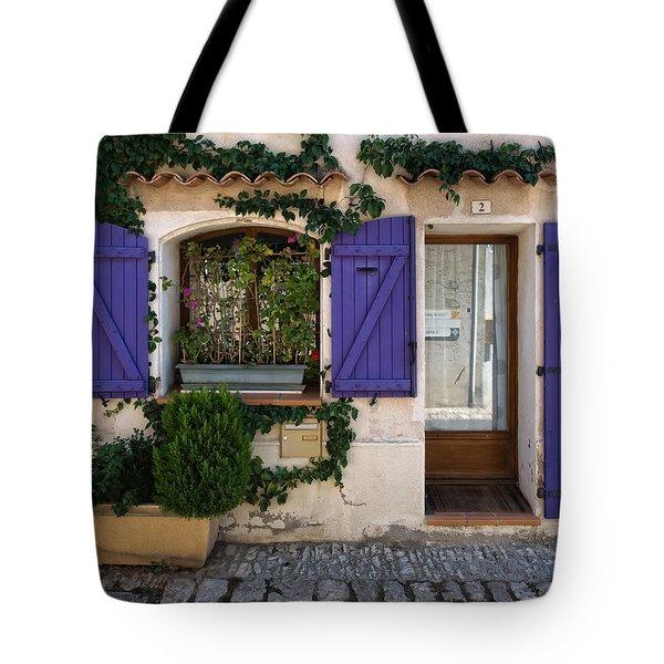 Purple Shutters Tote Bag