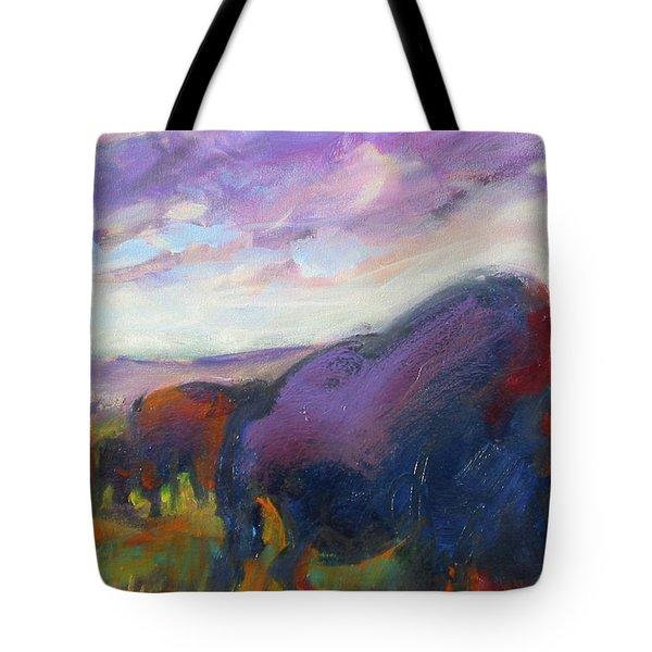 Purple Sky Buffalo Tote Bag