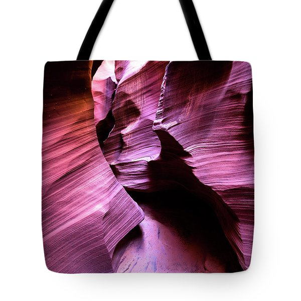 Tote Bag featuring the photograph Purple Slot Canyon - Tall by Stephen Holst
