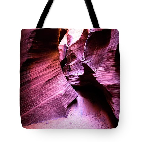 Tote Bag featuring the photograph Purple Slot Canyon - Wide by Stephen Holst