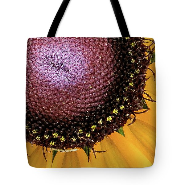 Purple Spirals Tote Bag