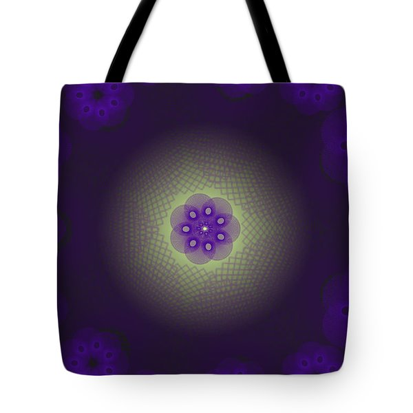 Purple Spirograph Design Tote Bag