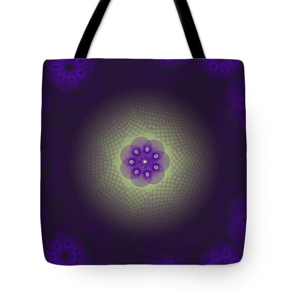 Purple Spirograph Design Tote Bag