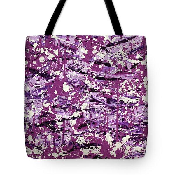 Purple Splatter Tote Bag