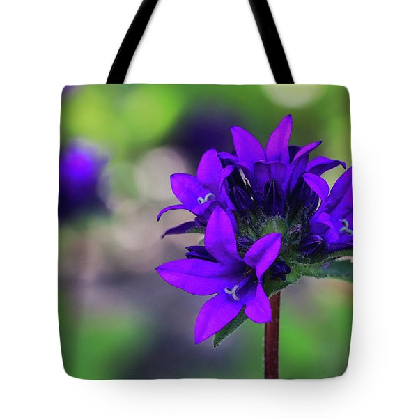 Tote Bag featuring the photograph Purple Spring Flower by Cristina Stefan