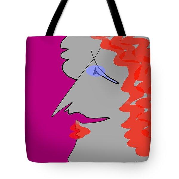 Purple Stache Tote Bag