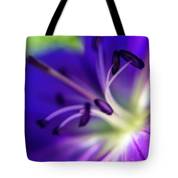 Purple Starburst Tote Bag