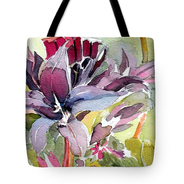 Purple Stem Aster Tote Bag