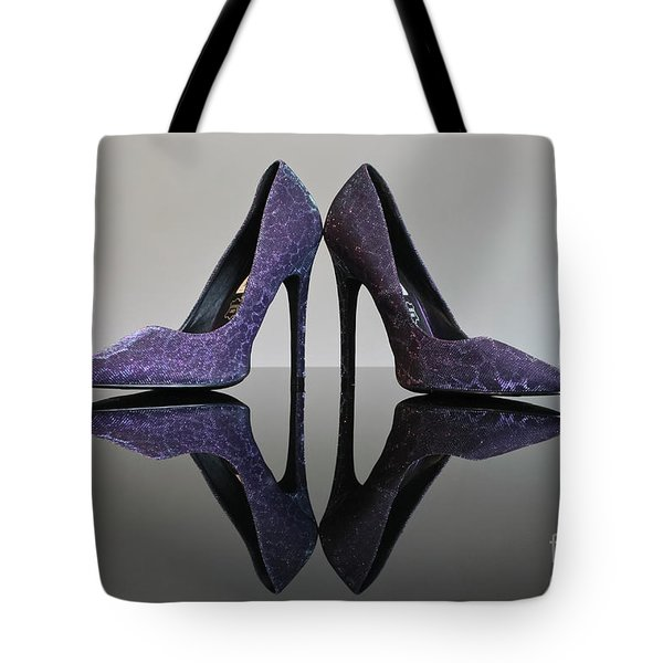 Purple Stiletto Shoes Tote Bag